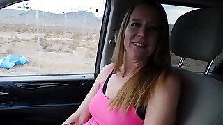 Hitchhiker gives ride a blowjob! - Jen Gayle