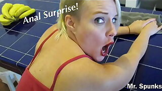 ANAL SURPRISE While She Cleans : I Fuck Her Ass With No Warning!