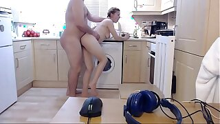 Her brother walks in on her as she washes the dishes and the bitch's sister grabs her by the thighs. He took his y. sisters blowjob and fucked her hard then finished facial.