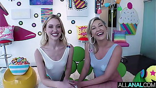 ALL ANAL Chloe Cherry and Adira Allure's anal tag team