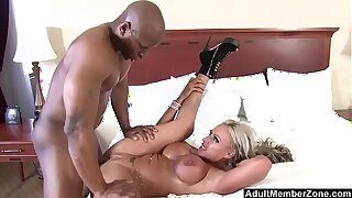 AdultMemberZone - Big Titted Milf craves huge black cock
