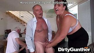 Grandpa blows on his Birthday