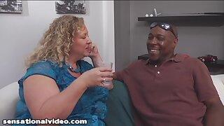 Chubby GILF wants hard black dick