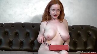 Elouisa - sexy redhead wife with big naturals and hairy pussy