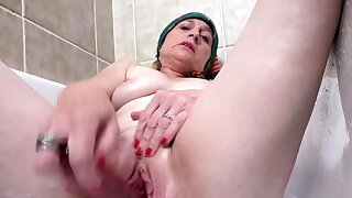 crazy old grandma prolapse her pussy