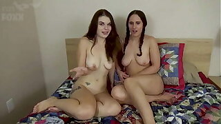 Sibling and 2 Sisters Have Sex Together for the First Time, POV - Sibling Fucks Sister, Family Threesome, Teen, Brunette - Anastasia Rose & Akira Shell
