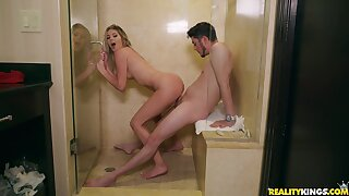 Young minx Brittany Benz gets nicely fucked in the bathroom