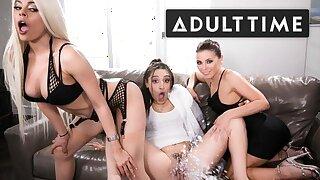 Abella Danger, Luna Star & Adriana Chechik Soaked in SQUIRT!