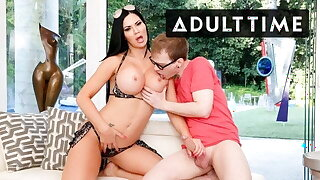 MILF With MASSIVE Tits Tempts Stepson's Naive BFF With Opulence