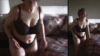 Sexy Grandma MarieRocks makes the bed