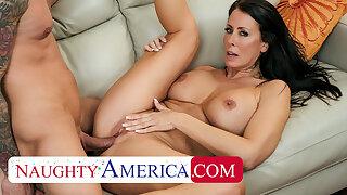 Naughty America - Hot Milf Reagan Foxx fucks a married man