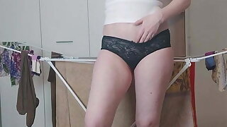 Housewife Distracted from Household Affairs for Masturbation