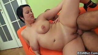 Can he score with sexy BBW?