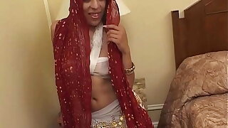 Husband is at a meeting, indian wife cheat him with 2 big cocks