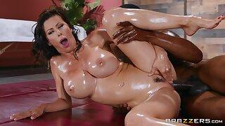 Interracial Slip And Slide 3 - brunette MILF Alexis Fawx, Isiah Maxwell 02