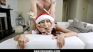 Skinny Latina Teen Step Daughter Vanessa Vox Lets Step Dad Fucked Her For Christmas POV