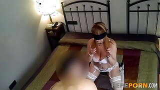 Hot blonde MILF breaks confinement with a young cock in a hotel!