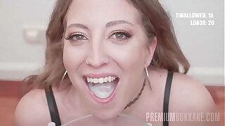 PremiumBukkake - Venom swallows 129 huge mouthful cumshots